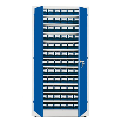Complete stores cabinet: 1900x1000x400mm: 96 bins