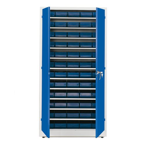 Complete stores cabinet: 1900x1000x400mm: 60 bins