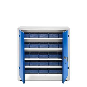 Complete stores cabinet: 1000x1000x400mm: 25 bins