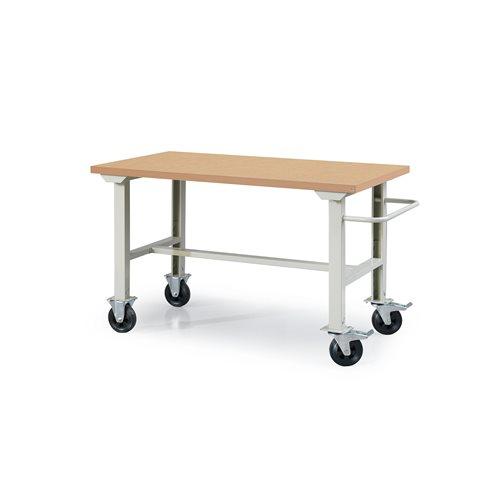 Työpöytä pyörillä korjaamoon, 1500x800 mm, kovalevy