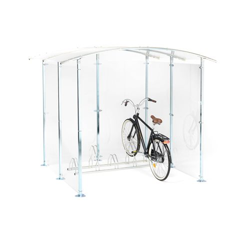 Plexiglass bicycle shelter