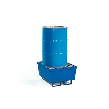 Drum pallet + mesh grid, 1 vertical drum, 800x800x545 mm