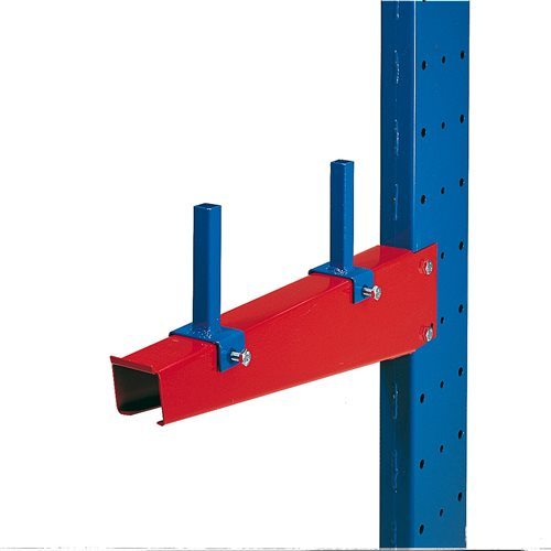 Adjustable divider for cantilever racking arms