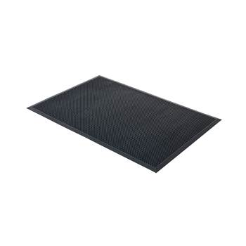Edge rubber entrance mat, 700x900 mm, black