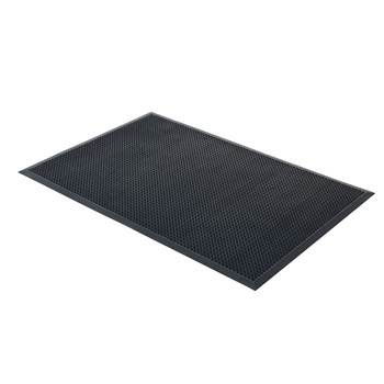 Edge rubber entrance mat, 900x1500 mm, black
