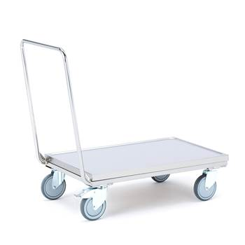 Stainless steel platform trolley: 250 kg