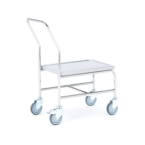 """High"" stainless steel trolley: 150 kg"