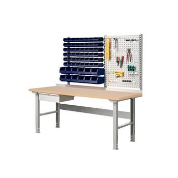 Komplett Arbeidsbord med Verktøytavle og Bokser, Hærdet Bord