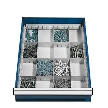Välijakajat laatikkoon, sopii korkeudelle: 100-200 mm