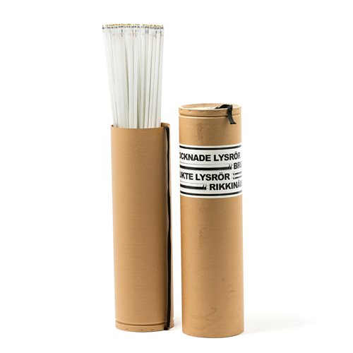 Fluorescent tube container