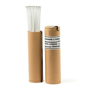 Beholder for lysstoffrør