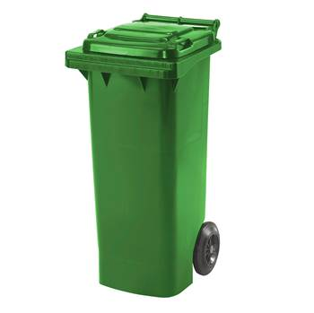 Budget wheelie bin, 930x445x525 mm, 80 L, green