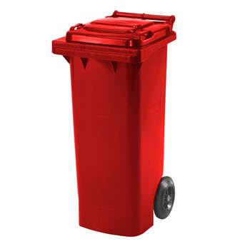 Budget wheelie bin, 930x445x525 mm, 80 L, red
