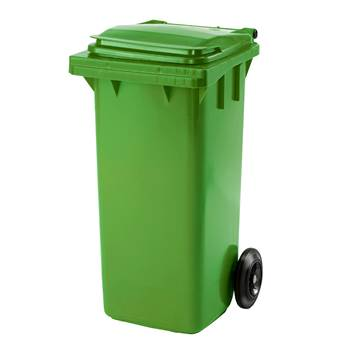 Budget wheelie bin, 930x480x555 mm, 120 L, green