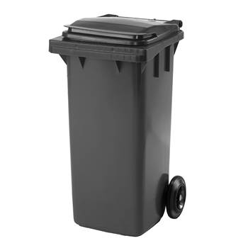Budget wheelie bin, 930x480x555 mm, 120 L, grey