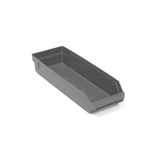 Szara szuflada magazynowa 6,1 l - 180x95x500mm - 20szt w opakowaniu