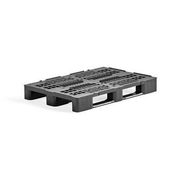 Plastpall svart 1200x800x145 mm