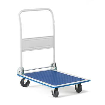 Stabilny składany wózek transportowy do 150kg.