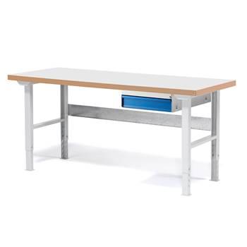 Stół warsztatowy Blat o warstwie laminowanej, 800x500x1500mm