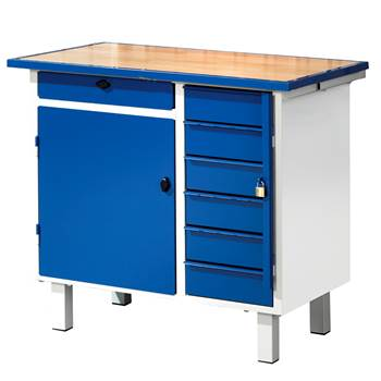 Flex tool bench, fixed, cabinet + 7 drawers