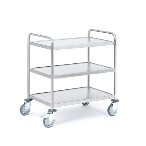 Wózek ze stali nierdzewnej z 3 półkami