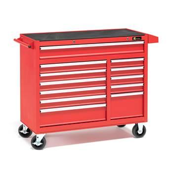 Verktygsvagn, 12 lådor, röd