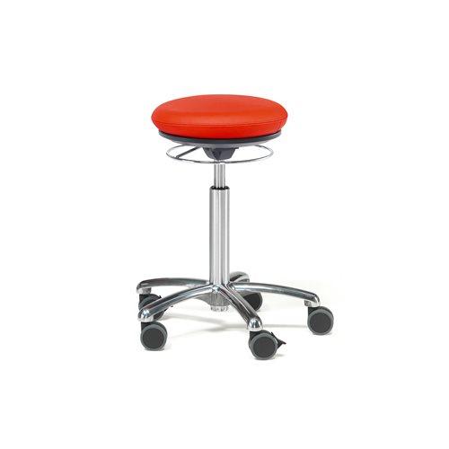 Pilates-tuoli Bristol, keinonahka, punainen