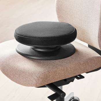 #en Balance seat with black fabric, round seat 300 mm