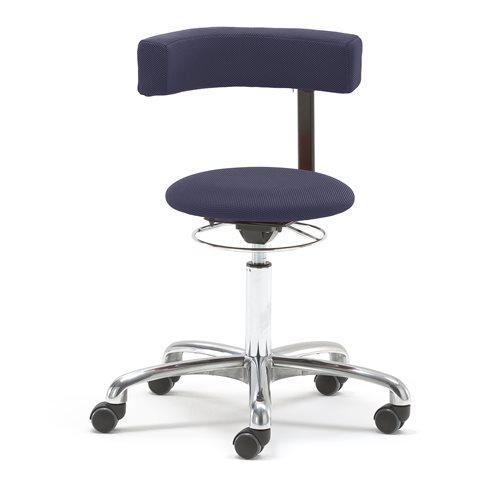 Työjakkara Twist, 360 astetta kääntyvä selkänoja, sininen