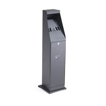 Tuhkakuppi, vapaasti seisova, korkeus: 880 mm, musta