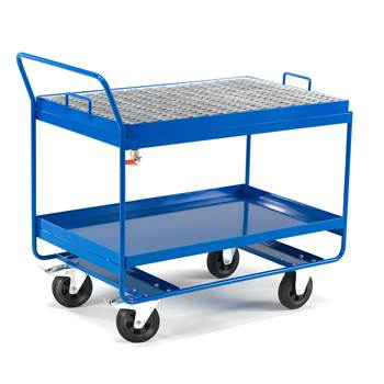 Sump trolley, with mesh
