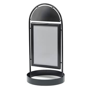 Gatupratare / Skyltställ, 700x1000 mm, svart
