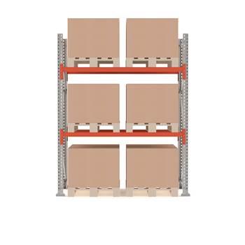 Ultimate pallet racking, basic unit, 2500x1850x1100 mm, 6 pallets