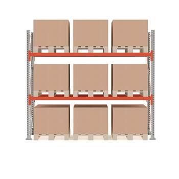 Ultimate pallet racking, basic unit, 2500x2750x1100 mm, 9 pallets