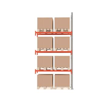 Ultimate pallet racking, add-on unit, 4000x1850x1100 mm, 8 pallets