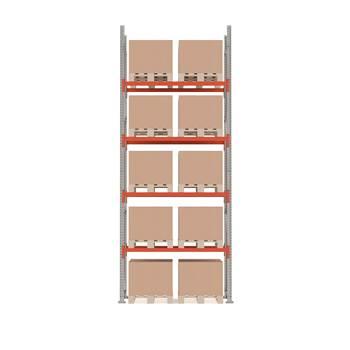Ultimate pallet racking, basic unit, 5000x1850x1100 mm, 10 pallets