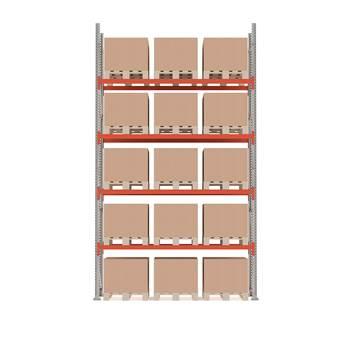 Ultimate pallet racking, basic unit, 5000x2750x1100 mm, 15 pallets