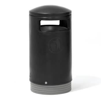 Czarny pojemnik na śmieci 94 l