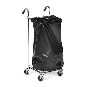 Sopsäcksvagn med körhandtag, 125 liter