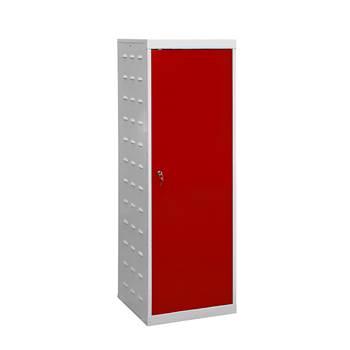Charging laptop cabinet, 1 door, 1460x500x500 mm, red