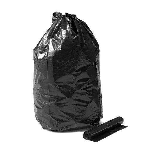 Czarny worek wiązany  125L