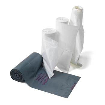 Szare worki sanitarne 25 l - 100 szt