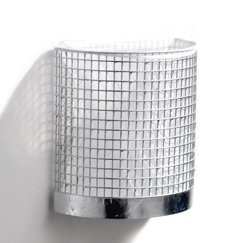 Galvanised wall-mounted litter bin