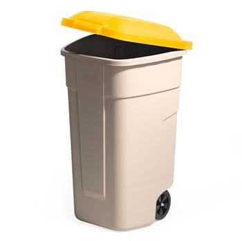 Refuse sorting container, 900x510x580 mm, 100 L, yellow