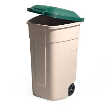 Refuse sorting container, 900x510x580 mm, 100 L, green