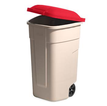 Refuse sorting container, 900x510x580 mm, 100 L, red