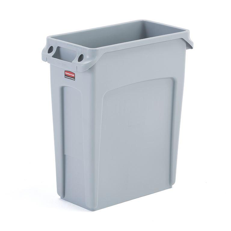 Szary pojemnik plastikowy do sortowania śmieci