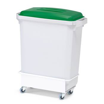 Package deal, 1x60 L refuse container + lid (green)+ trolley