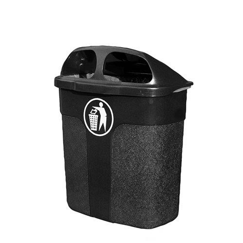 Klassinen roska-astia, 40 litraa, musta
