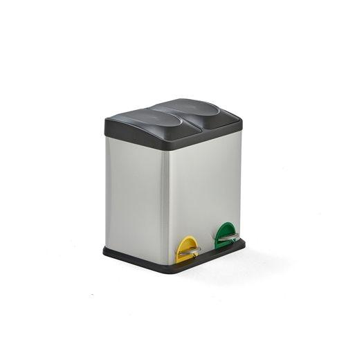 Waste sorting unit: 2 bins: 30L